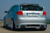 Rieger tuning Spoiler pod zadní nárazník Je Design Audi A3 typ 8P r.v. 2003-